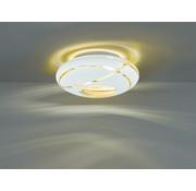 Trio Leuchten Plafondlamp Faro Ø40cm - Wit/Goud