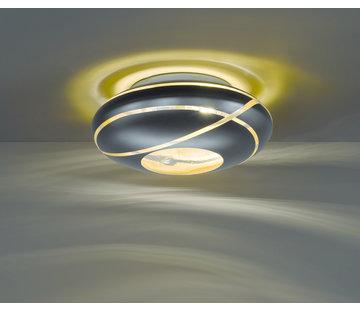 Trio Leuchten Plafondlamp Faro Ø50cm - Zwart/Goud