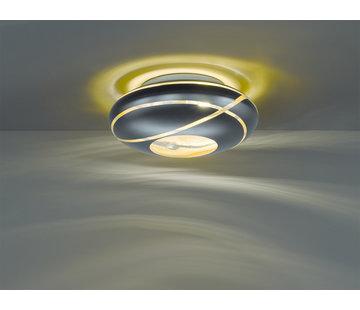Trio Leuchten Plafondlamp Faro Ø40cm - Zwart/Goud