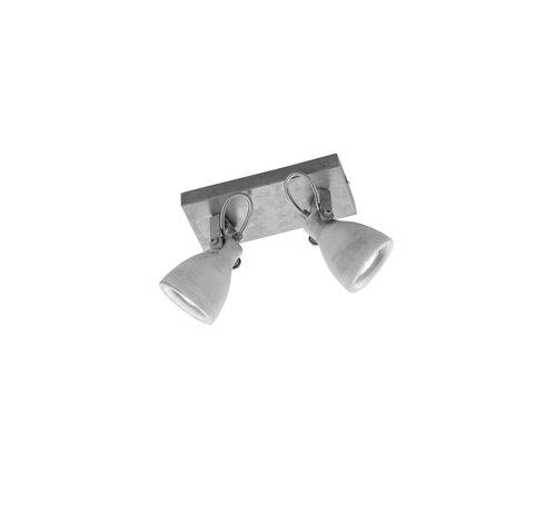 Trio Leuchten Plafondlamp Concrete 2L - Grijs