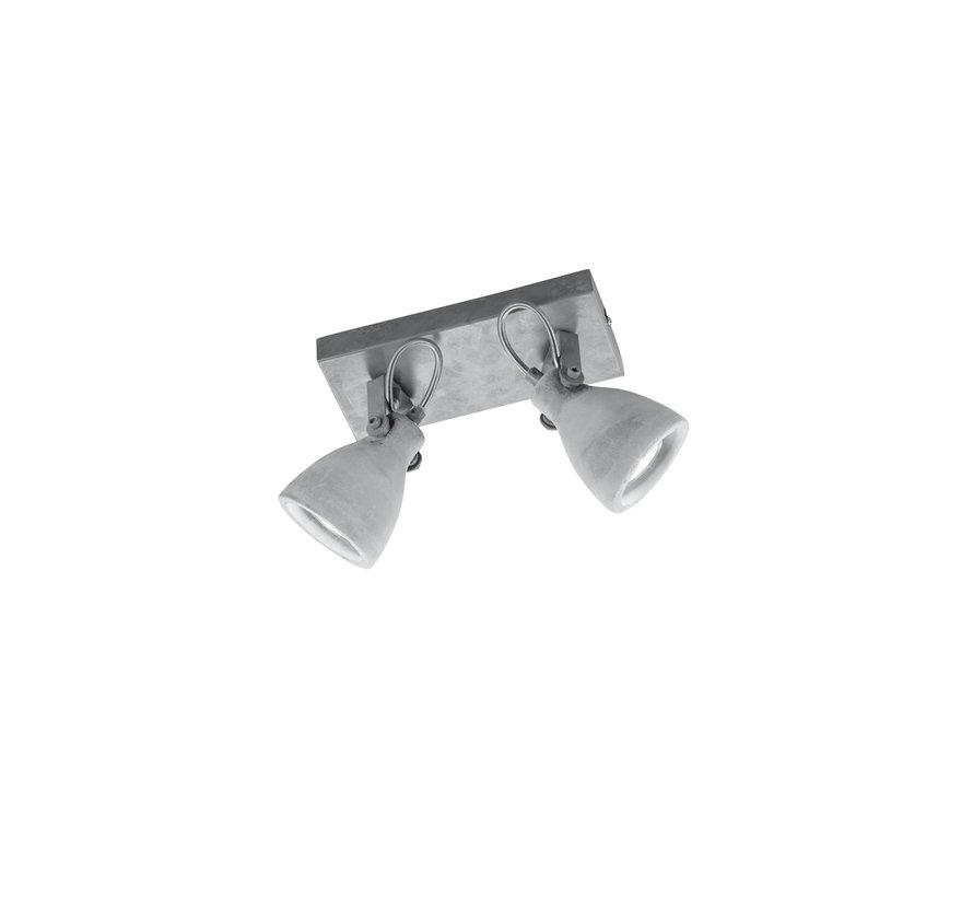 Plafondlamp Concrete 2L - Grijs