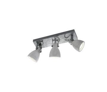 Trio Leuchten Plafondlamp Concrete 3L - Grijs