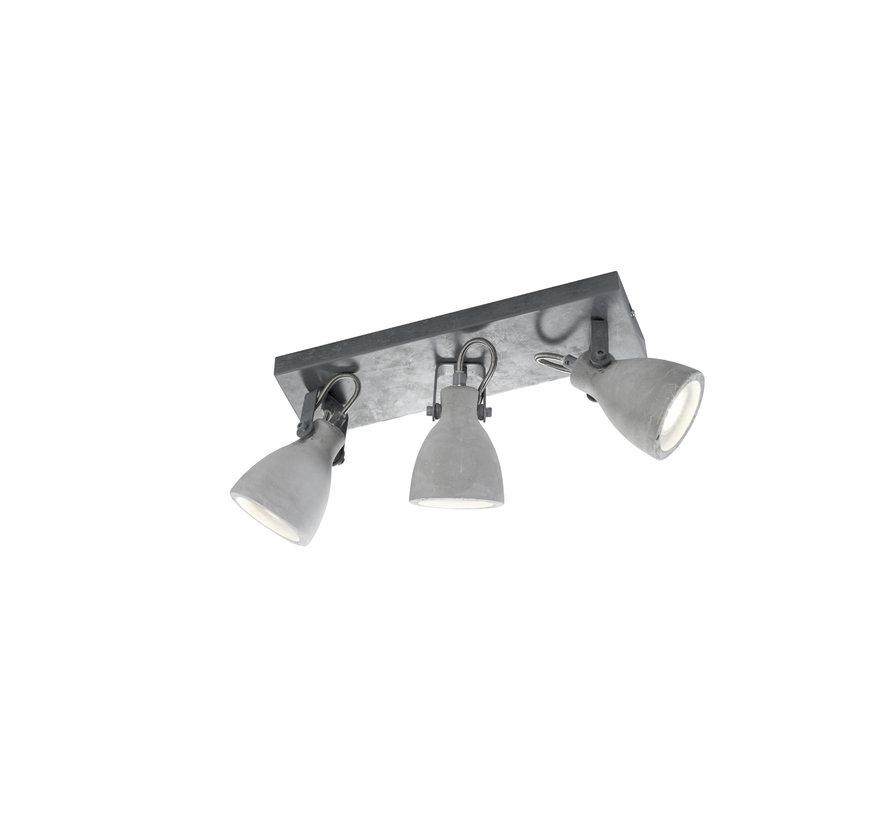 Plafondlamp Concrete 3L - Grijs
