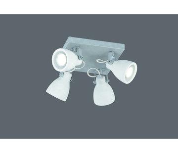 Trio Leuchten Plafondlamp Concrete 4L - Grijs