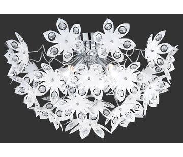 Trio Leuchten Plafondlamp Blowball - Chroom/Wit