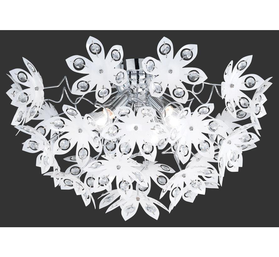 Plafondlamp Blowball - Chroom/Wit