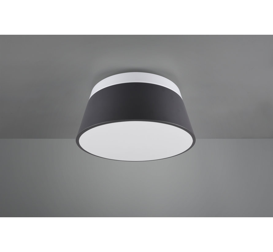 Plafondlamp Baroness - Antraciet/Wit