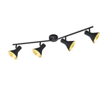 Trio Leuchten Plafondlamp Nina 4L - Zwart/Goud