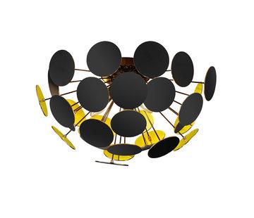 Trio Leuchten Plafondlamp Discalgo - Zwart/Goud