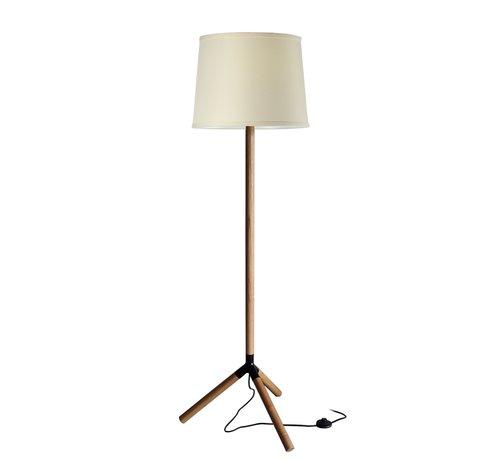Artdelight Vloerlamp Trace - Hout/Wit
