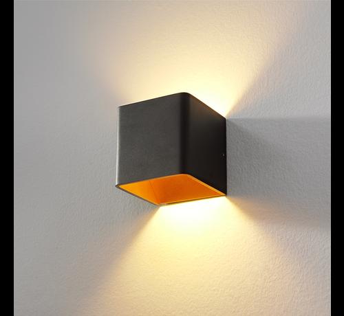 Artdelight Wandlamp Fulda - Zwart/Goud