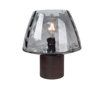 Van de Heg Tafellamp Bakula - Smoke Glass