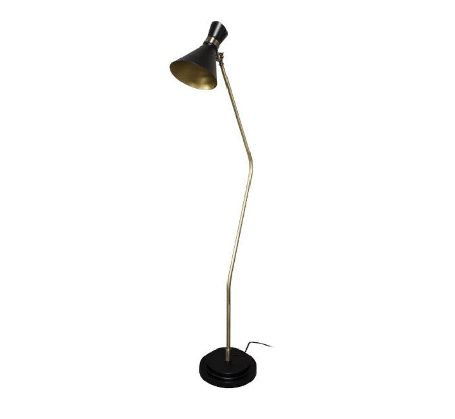 Vloerlamp Padua Salerno 1L - Zwart/Goud