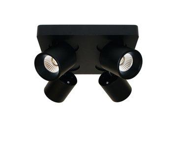 Artdelight Plafondlamp Laguna 4L - Zwart