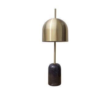 Van de Heg Tafellamp Dome - Zwart/Goud/Messing