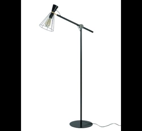 Van de Heg Vloerlamp Hudson - Zwart