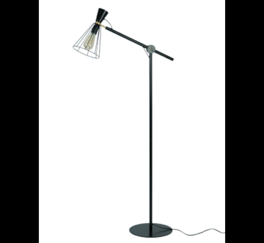 Vloerlamp Hudson - Zwart