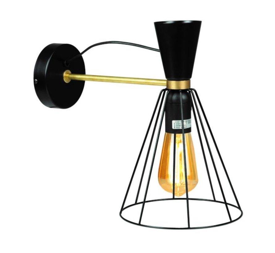 Wandlamp Hudson - Zwart
