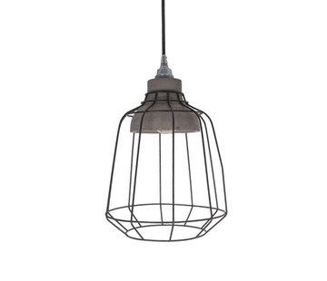 Van de Heg Hanglamp Ake - Metaal/Beton/Zwart