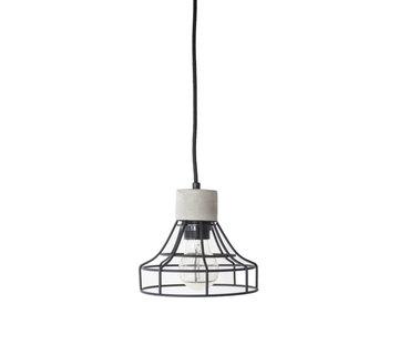 Van de Heg Hanglamp Carr - Metaal/Beton/Zwart