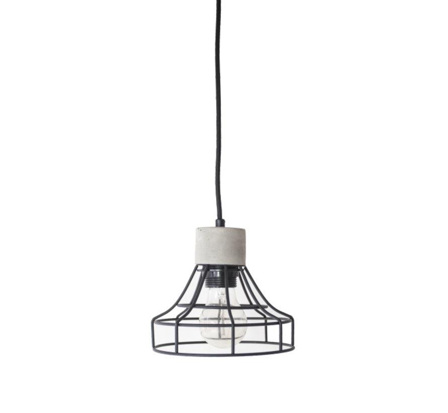 Hanglamp Carr - Metaal/Beton/Zwart