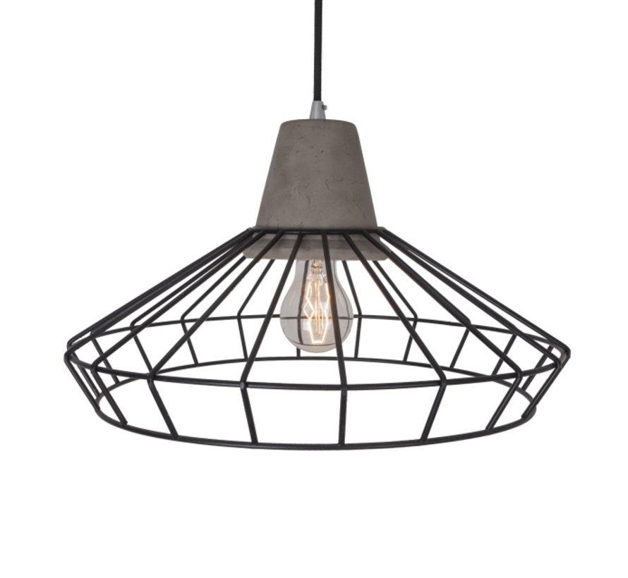 Hanglamp Brant - Metaal/Beton/Zwart