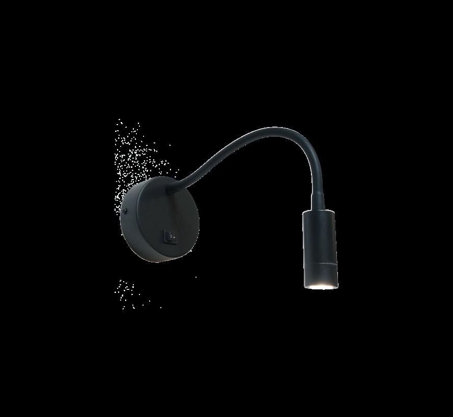 Wandlamp Flexi - Zwart