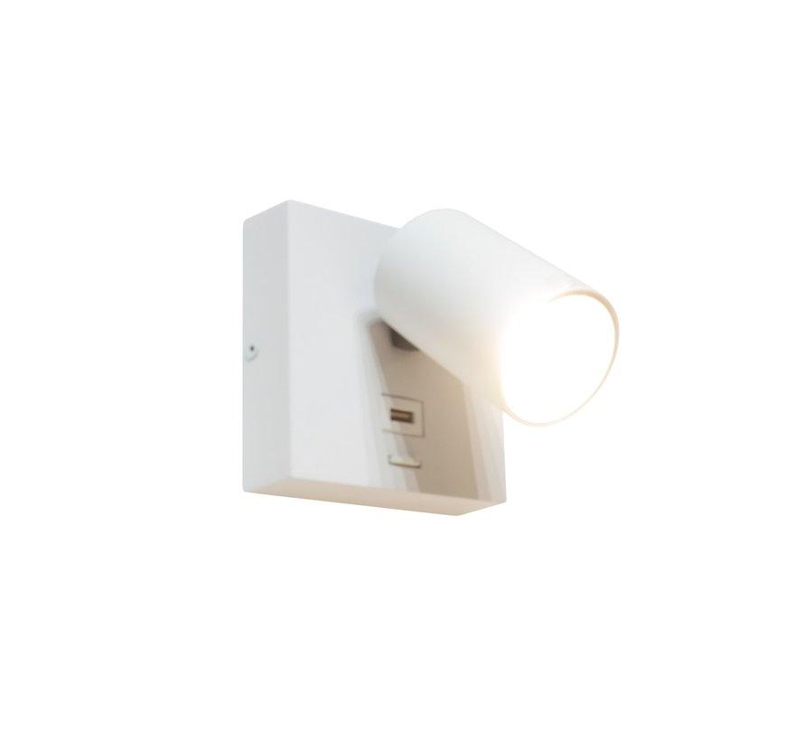 Wandlamp Master Led USB - Wit