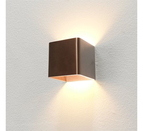 Artdelight Wandlamp Fulda - Brons