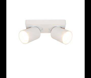 Artdelight Plafondlamp Megano 2L - Wit