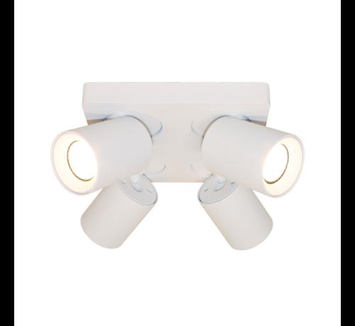 Artdelight Plafondlamp Megano 4L - Wit