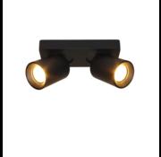 Artdelight Plafondlamp Megano 2L - Zwart