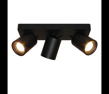 Artdelight Plafondlamp Megano 3L - Zwart