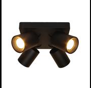 Artdelight Plafondlamp Megano 4L - Zwart