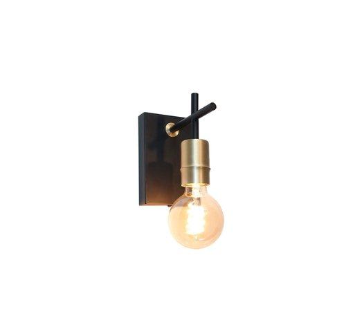 Artdelight Wandlamp Mokka - Zwart/Goud