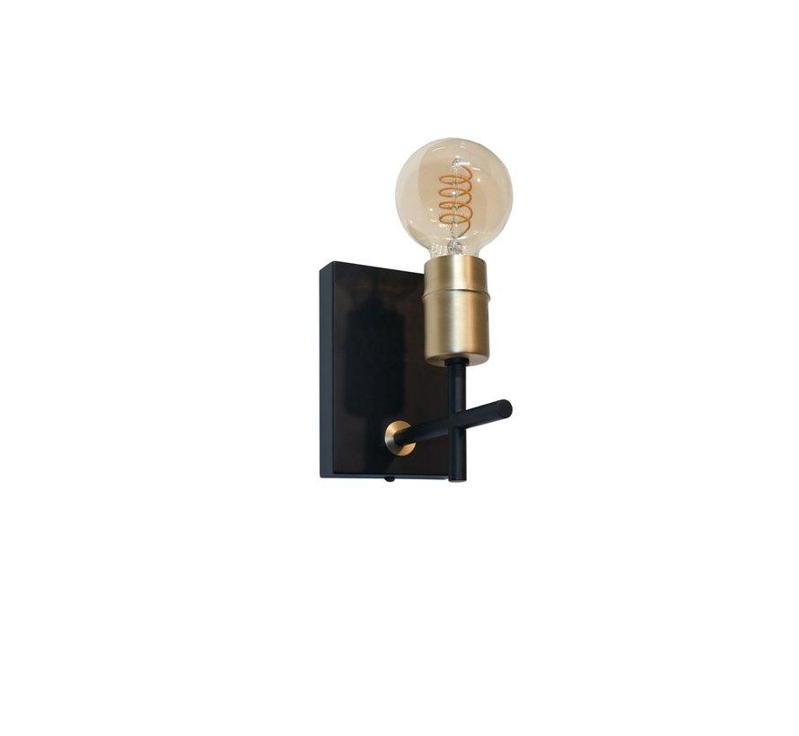 Wandlamp Mokka - Zwart/Goud