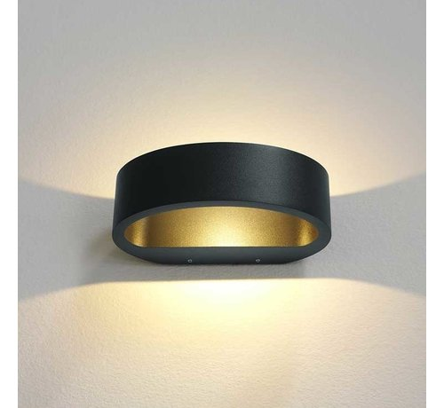 Artdelight Wandlamp Sharp - Antraciet