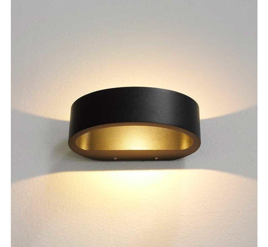 Wandlamp Sharp - Zwart
