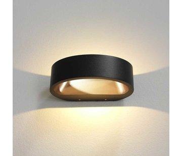 Artdelight Wandlamp Sharp - Zwart/Goud