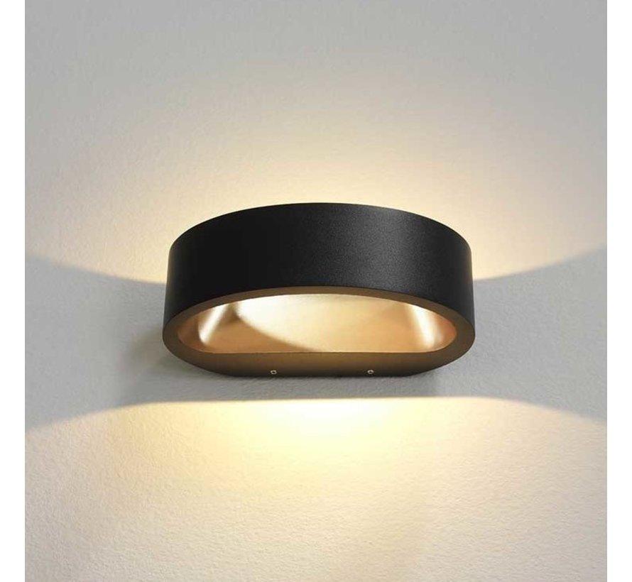 Wandlamp Sharp - Zwart/Goud