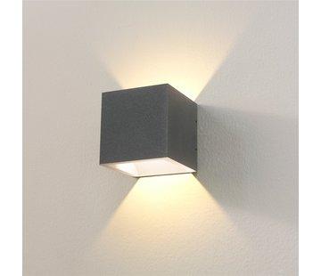 Artdelight Wandlamp Cube - Grafiet