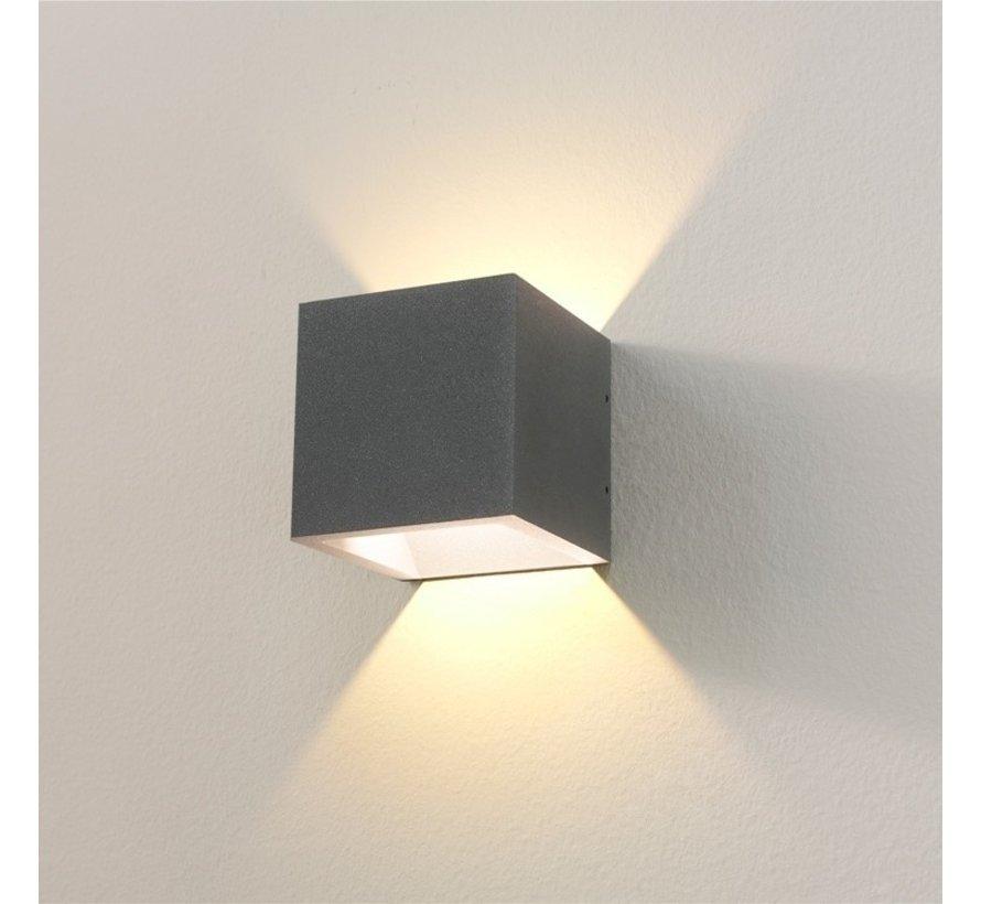 Wandlamp Cube - Grafiet