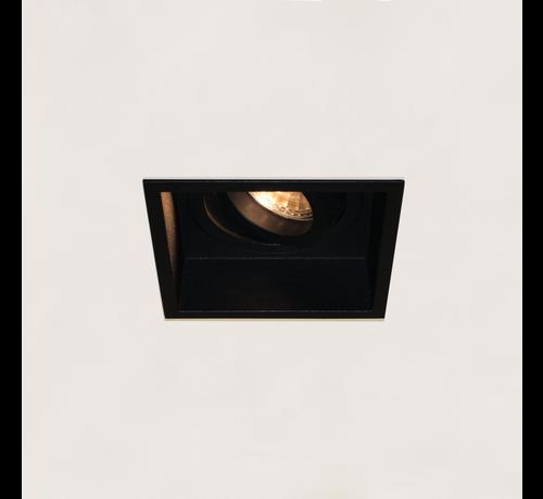 Artdelight Inbouwspot Rex Vierkant - Zwart