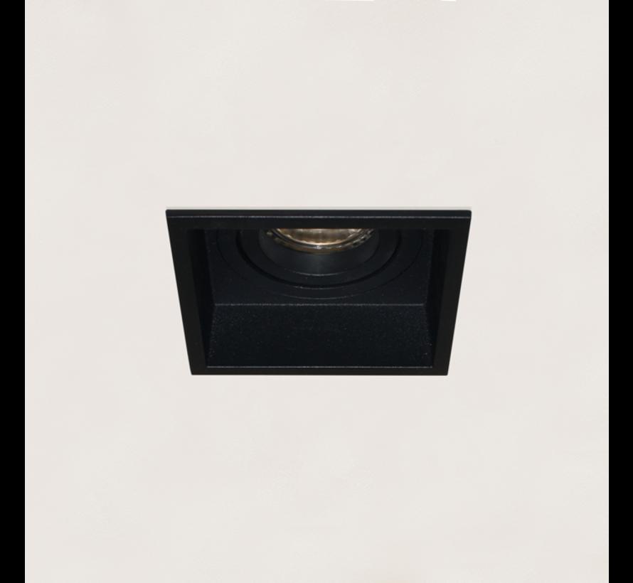 Inbouwspot Rex Vierkant - Zwart