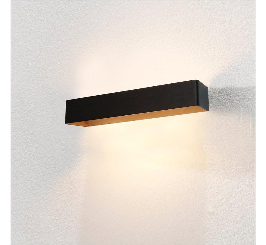 Wandlamp Mainz XL - Zwart/Goud