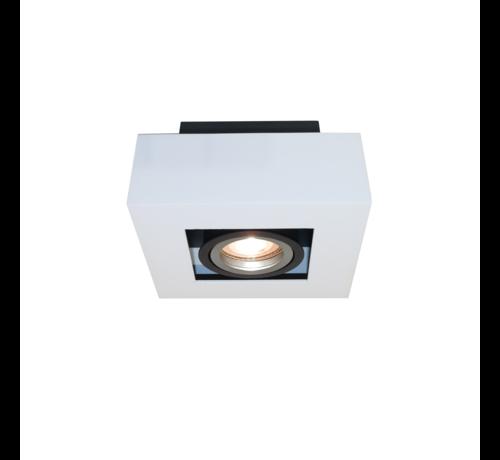 Artdelight Plafondlamp Bosco 1L - Wit/Zwart