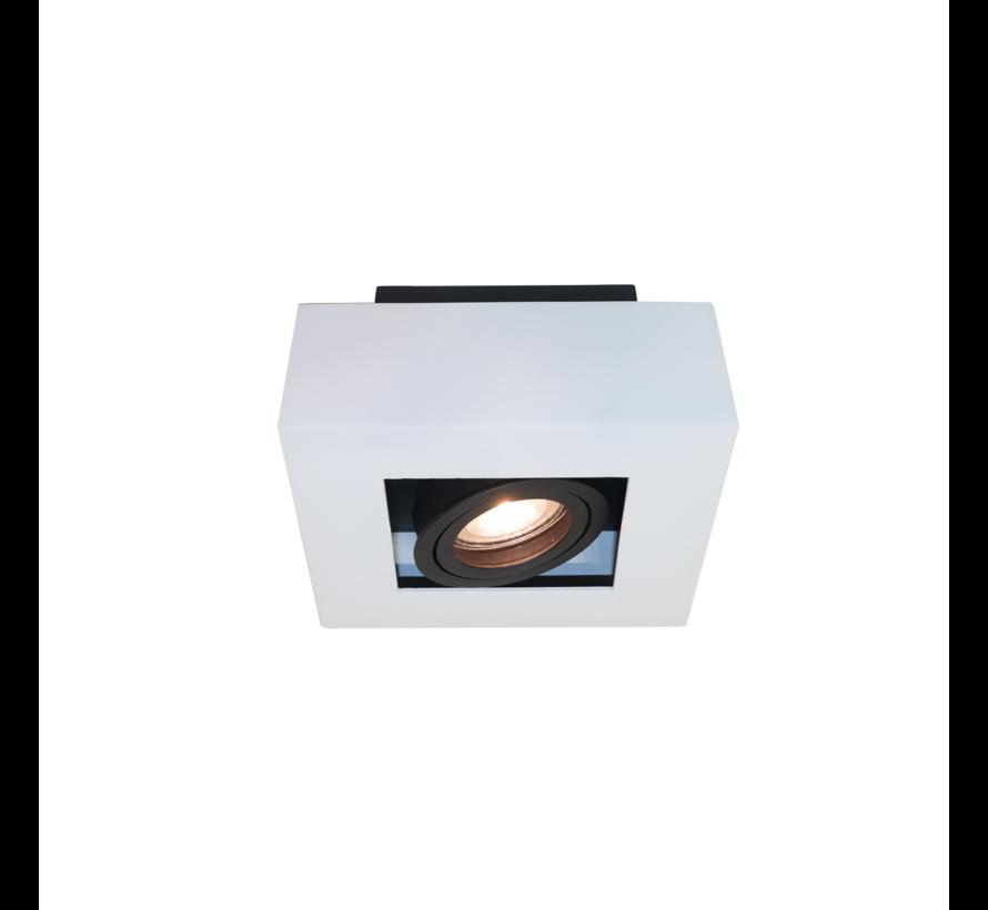 Plafondlamp Bosco 1L - Wit/Zwart