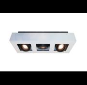 Artdelight Plafondlamp Bosco 3L - Wit/Zwart