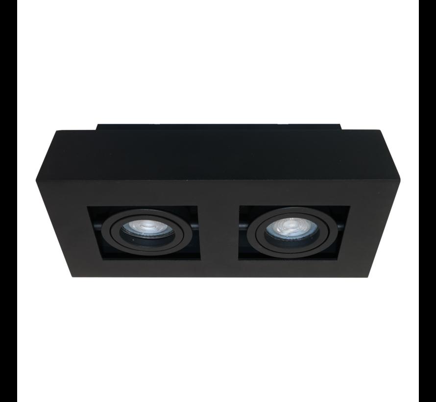 Plafondlamp Bosco 2L - Zwart
