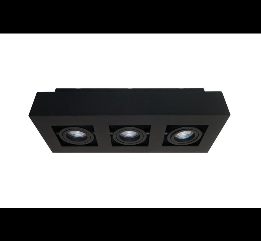 Plafondlamp Bosco 3L - Zwart